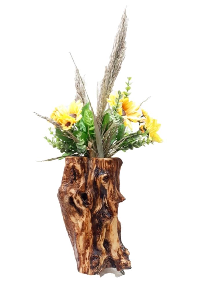 Γλαστράκι από ξύλο ελιάς FLOΟ2