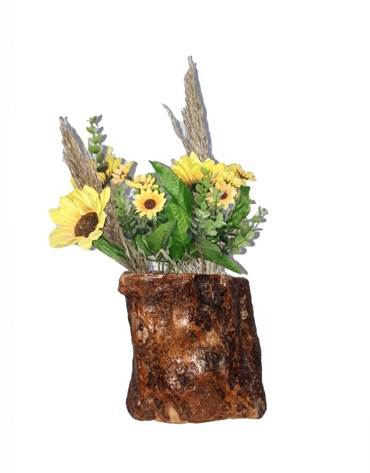 Γλαστράκι από ξύλο ελιάς FLOΟ3