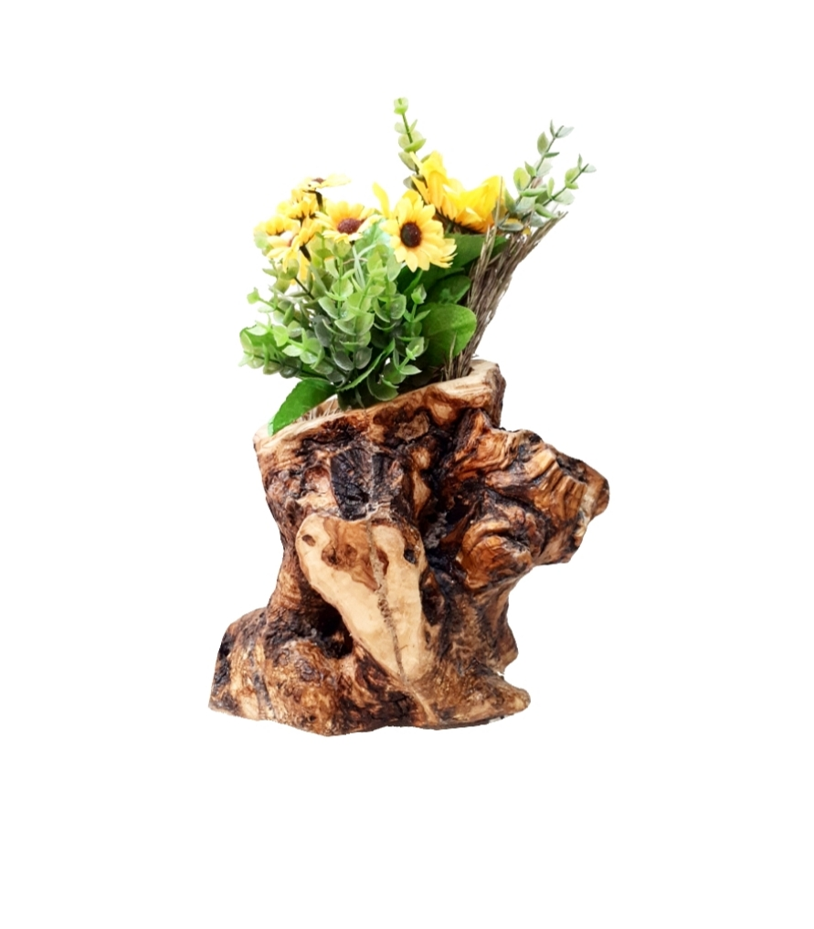 Γλαστράκι από ξύλο ελιάς FLOΟ5